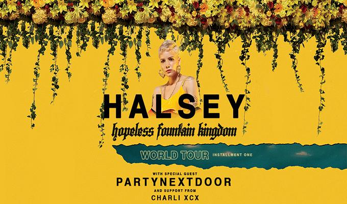 halsey, partynextdoor, charli xcx